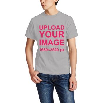 Custom Men's Crew-Neckone T-shirt Gray