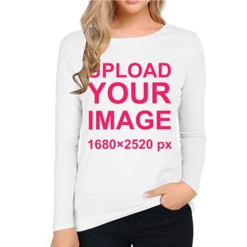Custom Women's Long Sleeve T-shirt White