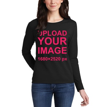 Custom Women's Long Sleeve T-shirt Black