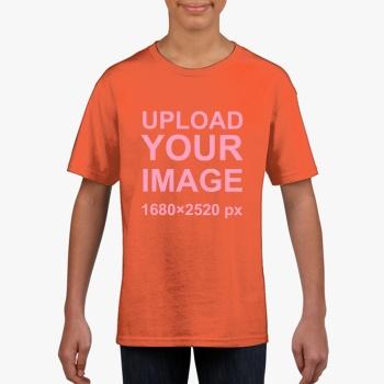 Gildan Children's Round Neck T-shirt Orange