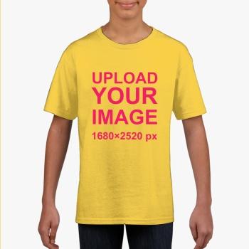 Gildan Children's Round Neck T-shirt Yellow