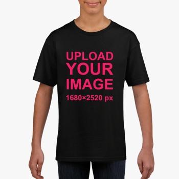 Gildan Children's Round Neck T-shirt Black