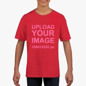 Gildan Children's Round Neck T-shirt Red