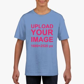 Gildan Children's Round Neck T-shirt Carol Blue