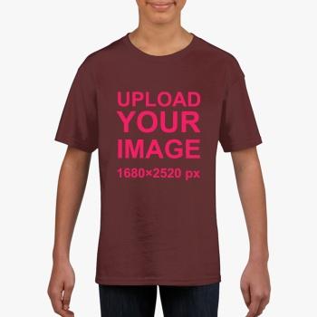 Gildan Children's Round Neck T-shirt Chestnut