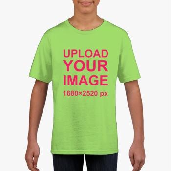 Gildan Children's Round Neck T-shirt Light Green