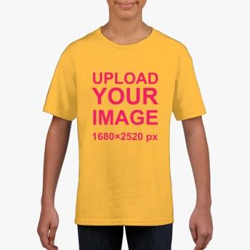 Gildan Children's Round Neck T-shirt Golden