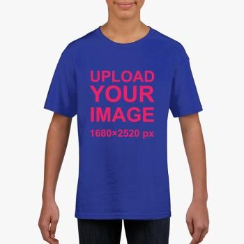 Gildan Children's Round Neck T-shirt Sports Sapphire Blue