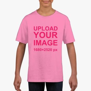 Gildan Children's Round Neck T-shirt Peony