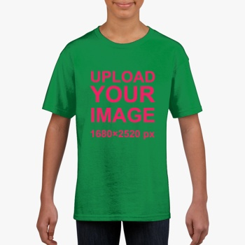 Gildan Children's Round Neck T-shirt Lrish Green