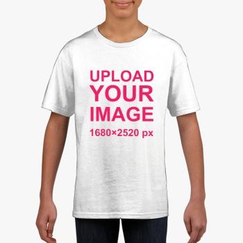 Gildan Children's Round Neck T-shirt White