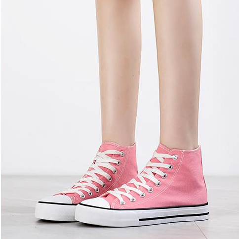 First Blush Men's High Top Canvas Shoes