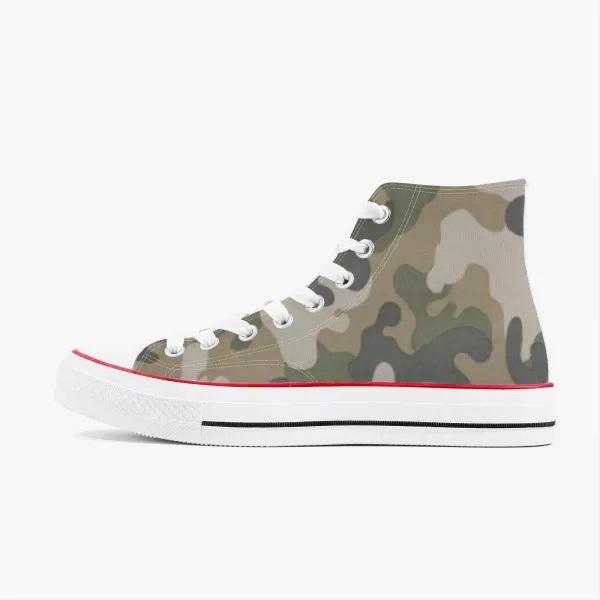 Camo High Top Canvas Shoes