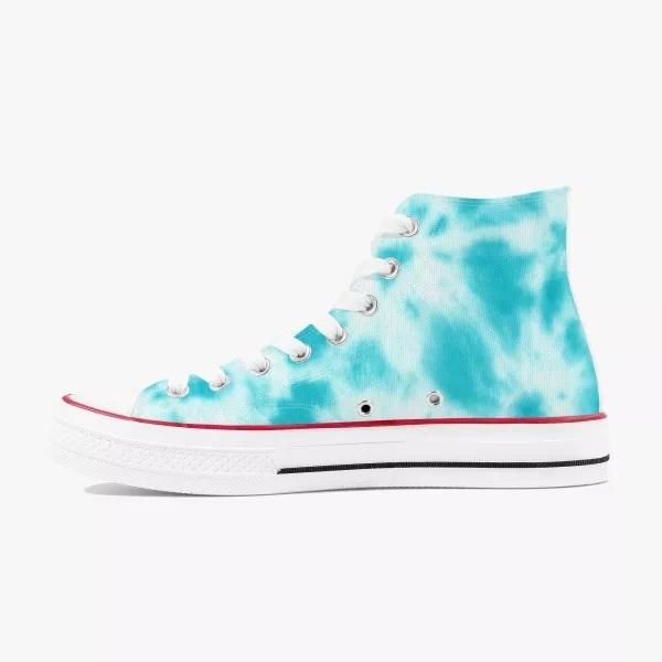 Blue Tie-dye High Top Canvas Shoes