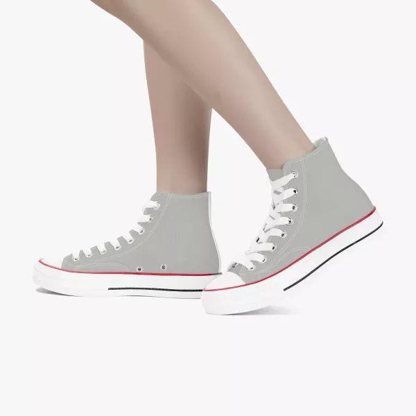 Gray Men's High Top Canvas Shoes