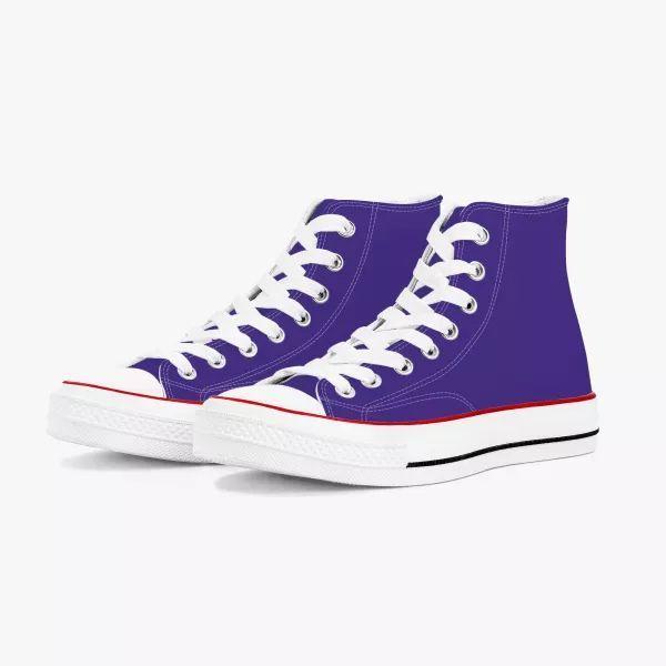 Purple Men's  High Top Canvas Shoes