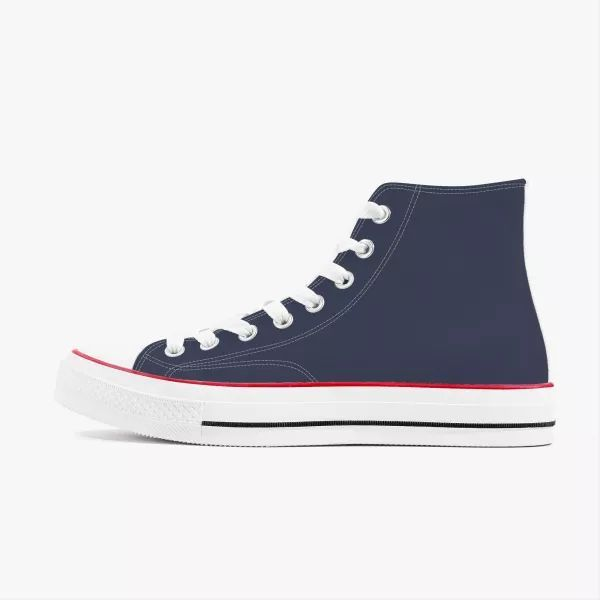 Navy Men's High Top Canvas Shoes