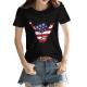 USA Shaka Custom Women's T-shirt Black