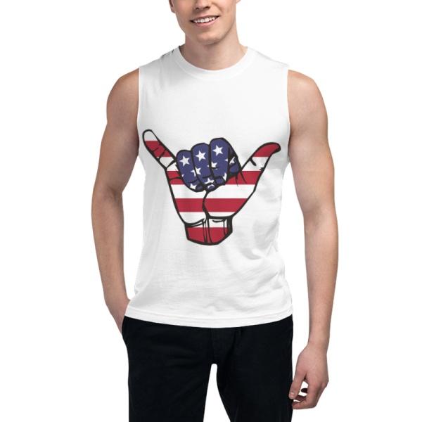 USA Shaka Custom Men's Sleeveless T-shirt