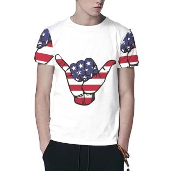 USA Shaka Custom All Surface  Men's T-shirt