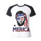 Abraham Lincoln Custom Women's Crew Neckone T-shirt