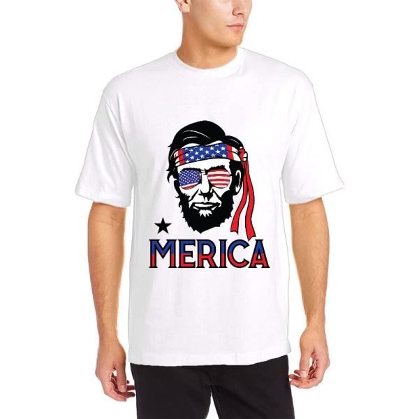 Abraham Lincoln Custom Men's Crew-Neckone T-shirt