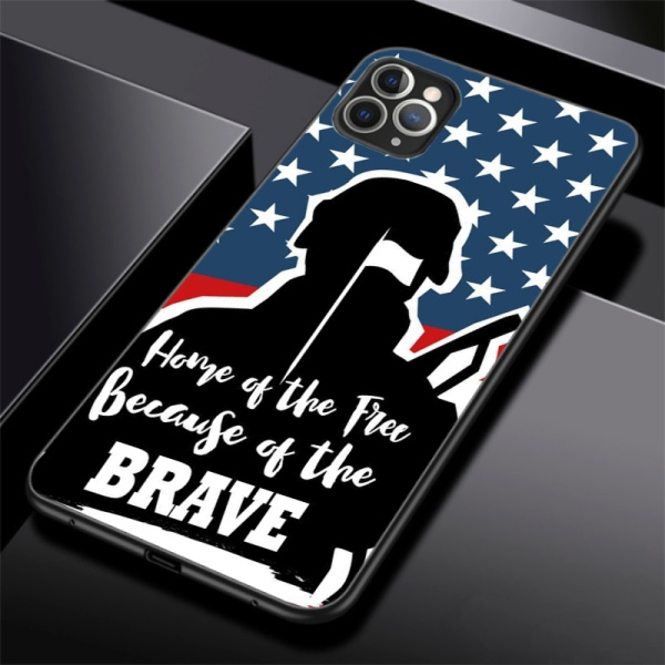 independence Day Custom Toughened Phone Case for iPhone 11 Pro Max