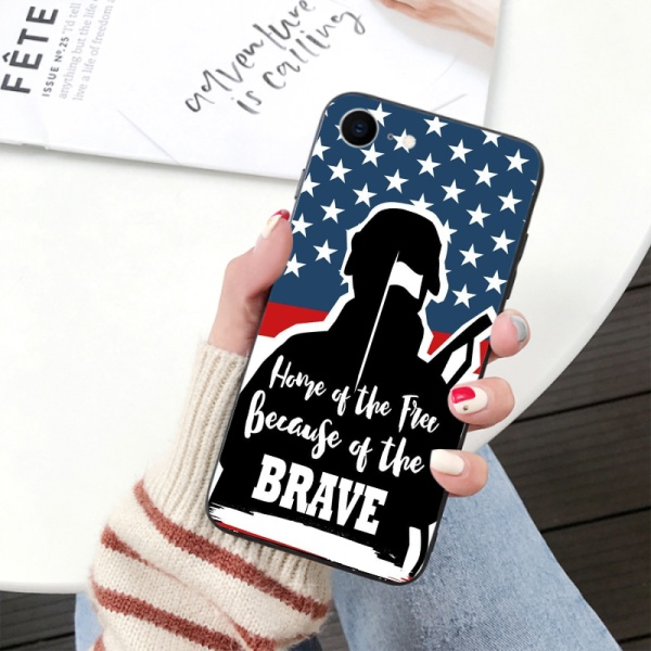 independence Day Custom Toughened Phone Case For Iphone 6S
