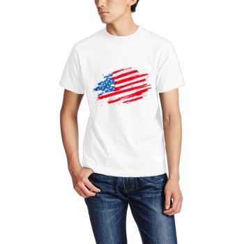 The Stars and Stripes Forever Custom Men's Crew-Neckone T-shirt Navy White