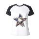 Flag Eagle Star Custom Women's Crew Neckone T-shirt
