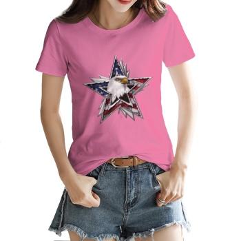 Flag Eagle Star Custom Women's T-shirt