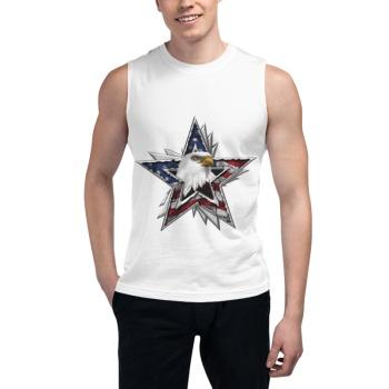Flag Eagle Star Custom Men's Sleeveless T-shirt