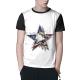Flag Eagle Star Custom Men's Crew-Neckone T-shirt