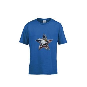 Flag Eagle Star Gildan Children's Round Neck T-shirt