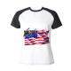 Flag Soaring Eagle Custom Women's Crew Neckone T-shirt