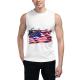 Flag Soaring Eagle Custom Men's Sleeveless T-shirt