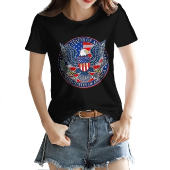 independence Day Custom Women's T-shirt Black