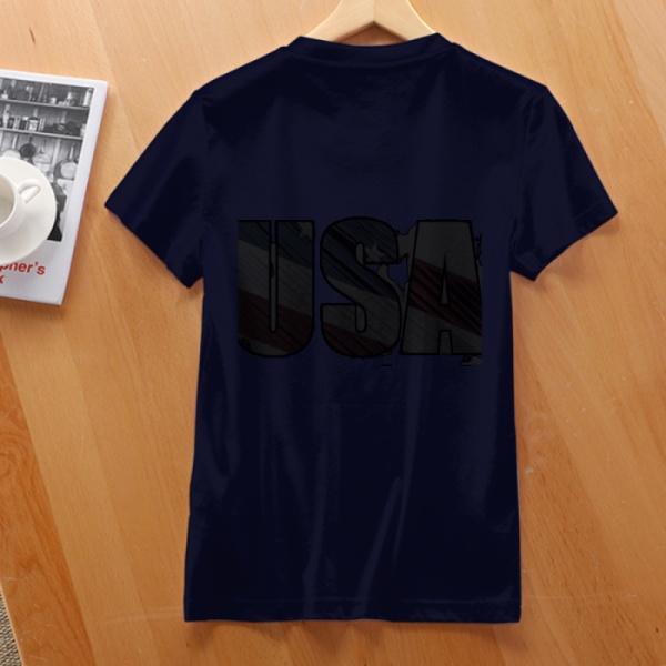 independence Day Custom Women's T-shirt Purplish Blue