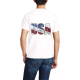 independence Day Custom Men's Crew-Neckone T-shirt Navy White
