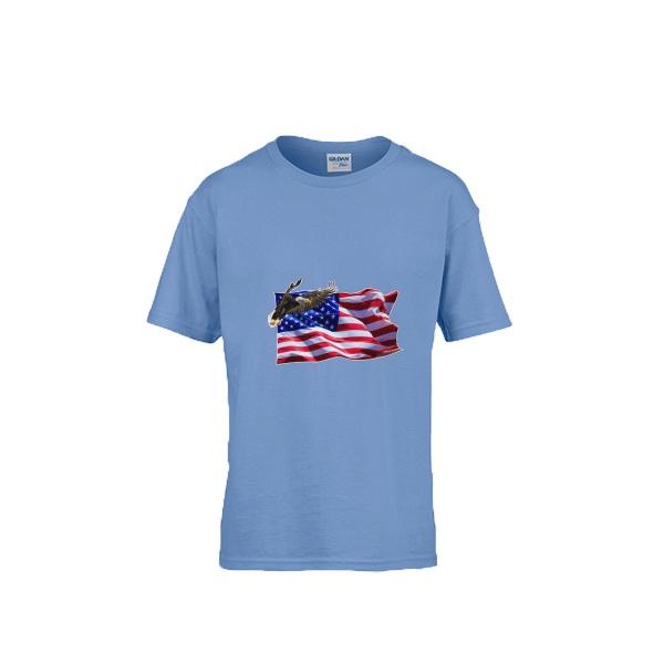 Flag Soaring Eagle Gildan Children's Round Neck T-shirt