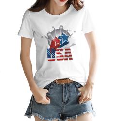 The stars Custom Women's T-shirt White