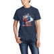 The stars Custom Men's Crew-Neckone T-shirt Navy Blue