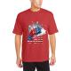 The stars Custom Men's Crew-Neckone T-shirt Red