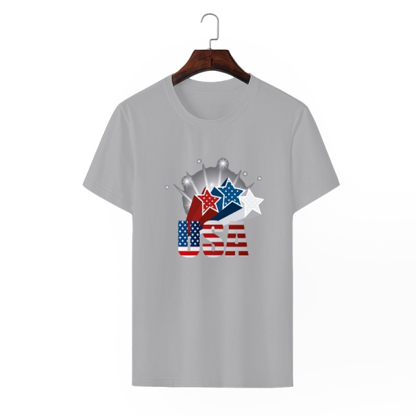 The stars Custom Men's Crew-Neckone T-shirt Gray