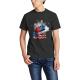 The stars Custom Men's Crew-Neckone T-shirt Black