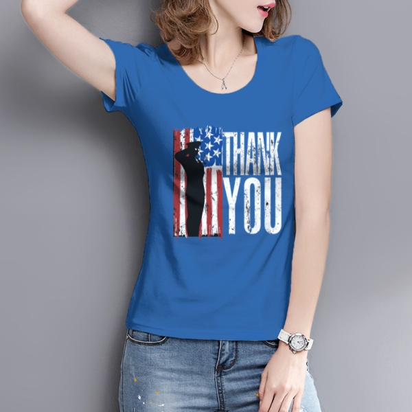 Patriotic Flag Custom Women's T-shirt