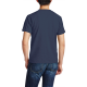Patriotic Flag Custom Men's Crew-Neckone T-shirt Navy Blue