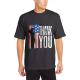 Patriotic Flag Custom Men's Crew-Neckone T-shirt Black