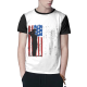 Patriotic Flag Custom Men's Crew-Neckone T-shirt