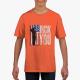 Patriotic Flag Gildan Children's Round Neck T-shirt